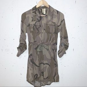 Camouflage Dress Japana Camo Button Down Small
